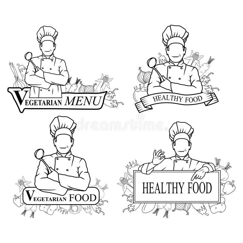 Wektorowa ilustracja jarska kuchnia royalty ilustracja