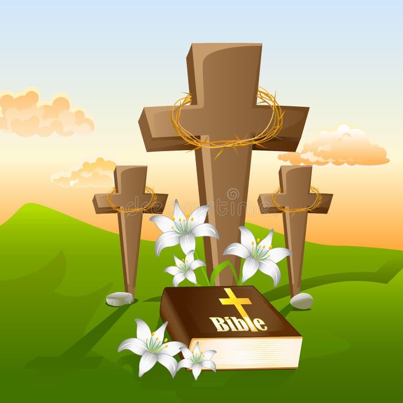 Jezus Chrystus krzyżowanie ilustracja wektor