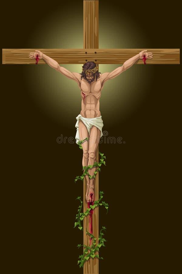 Jezus Chrystus krzyżowanie royalty ilustracja