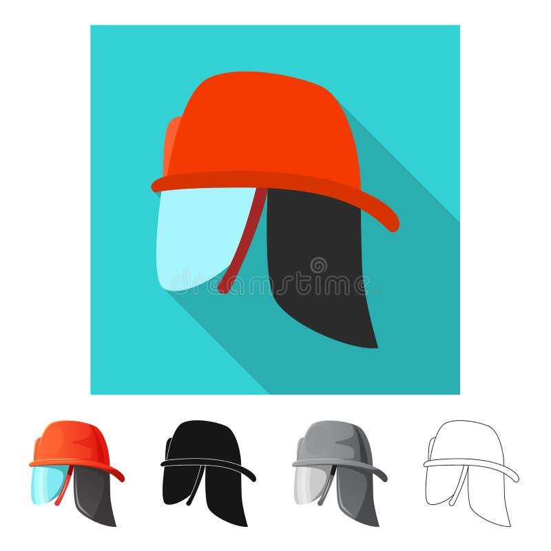 Wektorowa ilustracja kłobuku i nakrętki logo Set kłobuku i akcesorium akcyjna wektorowa ilustracja ilustracji