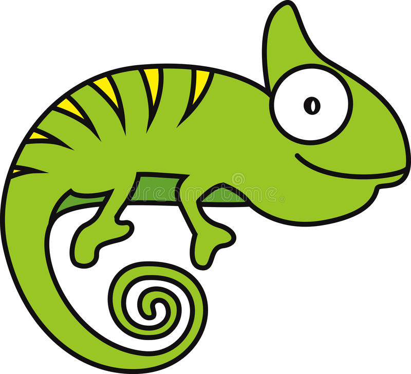 Wektorowa ilustracja kameleon ilustracja wektor