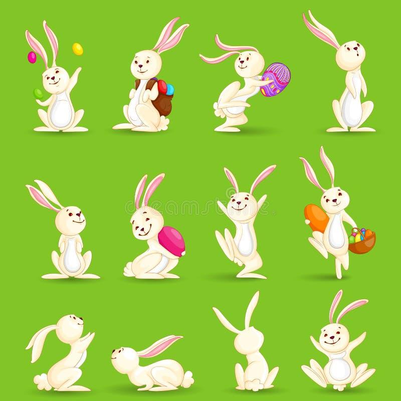 Wielkanocni króliki royalty ilustracja