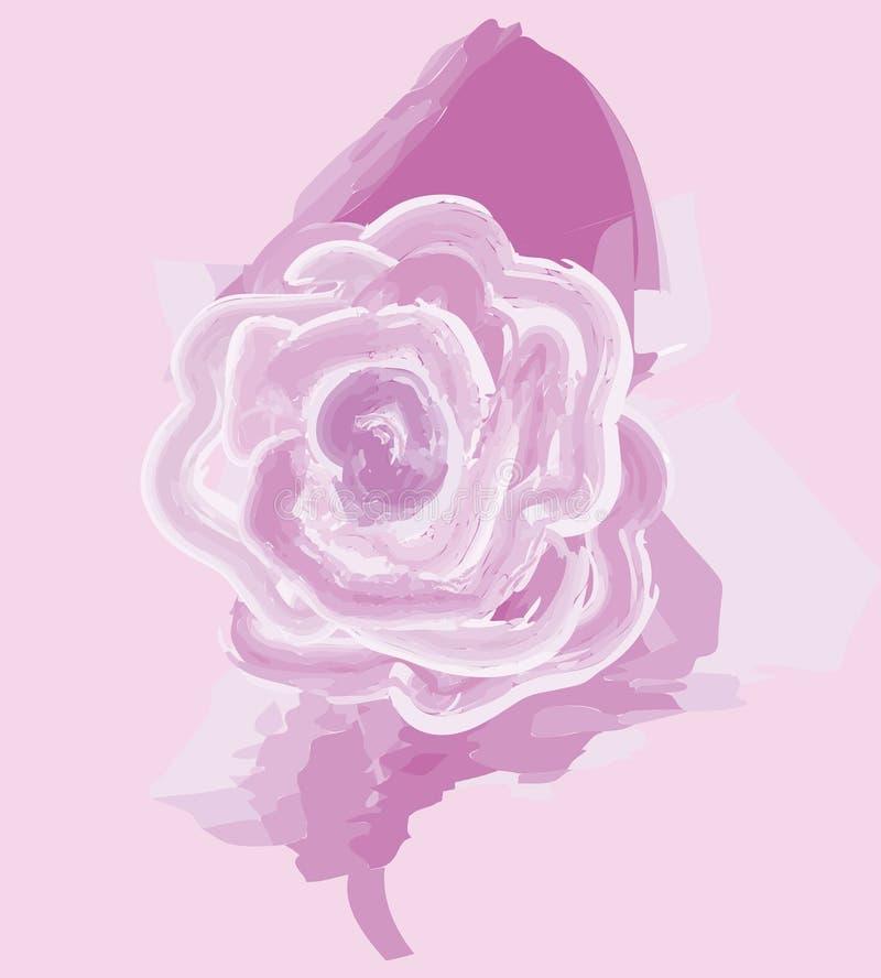 Wektorowa ilustracja kolorowe róże, malująca z farbą ilustracja wektor