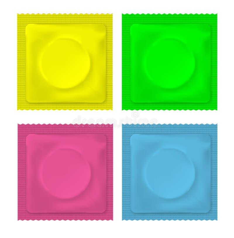 Wektorowa ilustracja koloru pustego miejsca kondom royalty ilustracja