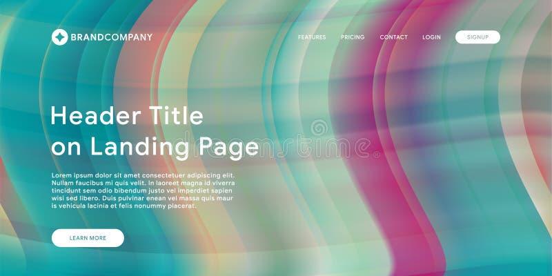 Wektorowa ilustracja Kreatywnie projekt z rzadkopłynnymi kolorowymi kształtami Modni kolorów gradienty Paska projekt Fluid kształ royalty ilustracja