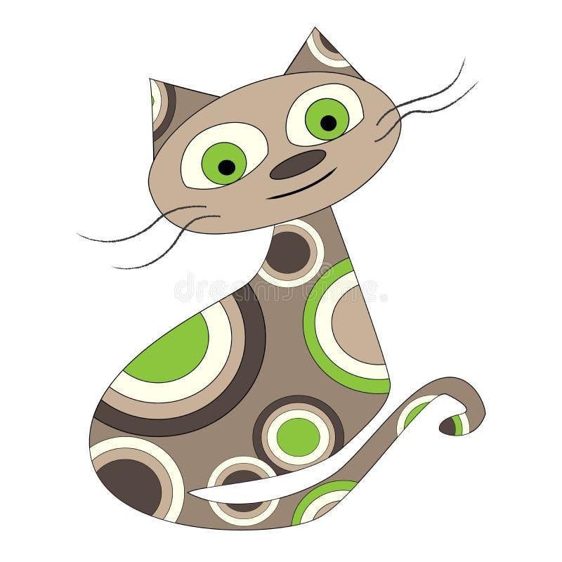 Wektorowa ilustracja kreskówka kot Projekt kartka z pozdrowieniami Koszulek grafika dla dzieciaków Kreskówka druk ilustracja wektor