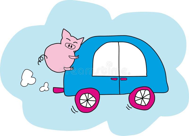 Dwoisty znaczenie Piggyback przejażdżka ilustracja wektor