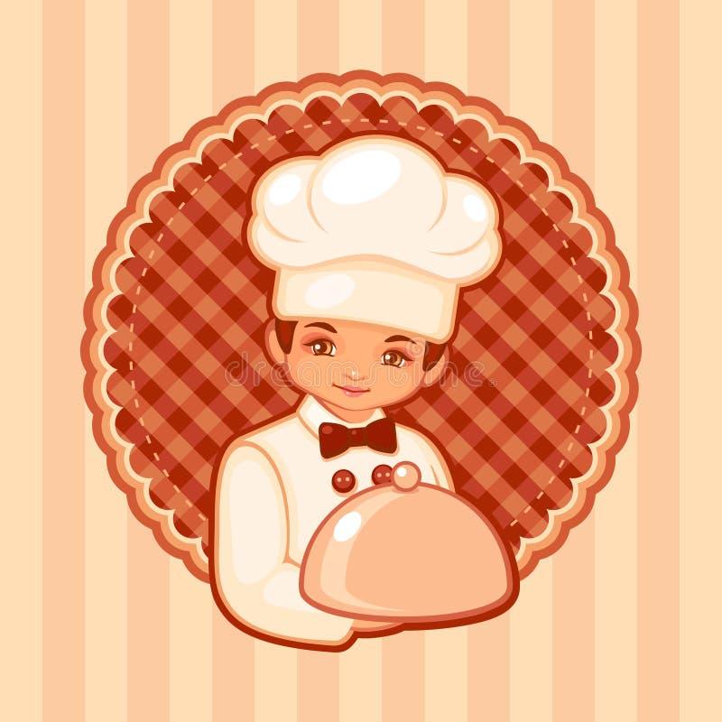 Wektorowa ilustracja kucharz ilustracji