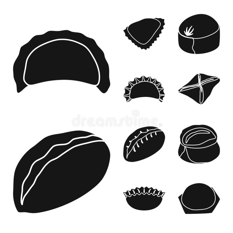 Wektorowa ilustracja kuchnia i zakąska symbol o ilustracji