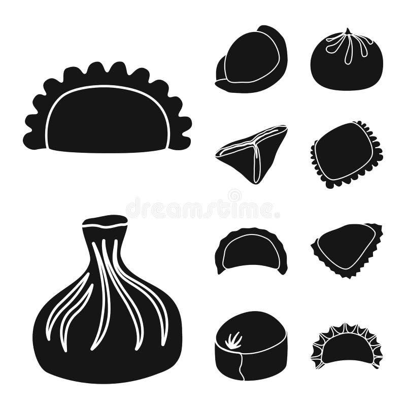 Wektorowa ilustracja kuchnia i zakąska znak Set kuchnia i zapasy żywności wektoru ilustracja ilustracji