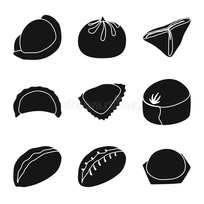 Wektorowa ilustracja kuchnia i zakąska symbol Set kuchni i jedzenia wektorowa ikona dla zapasu ilustracji
