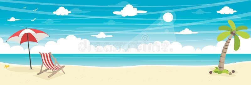 Wektorowa ilustracja lato plaży tło ilustracji