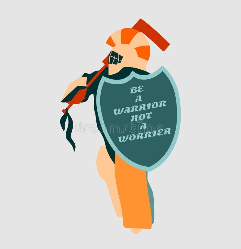 Wektorowa ilustracja lodowego hokeja bramkarz z rycerz osłoną royalty ilustracja