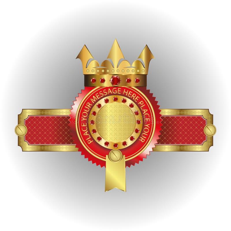 Wektorowa ilustracja logo Złota korona royalty ilustracja