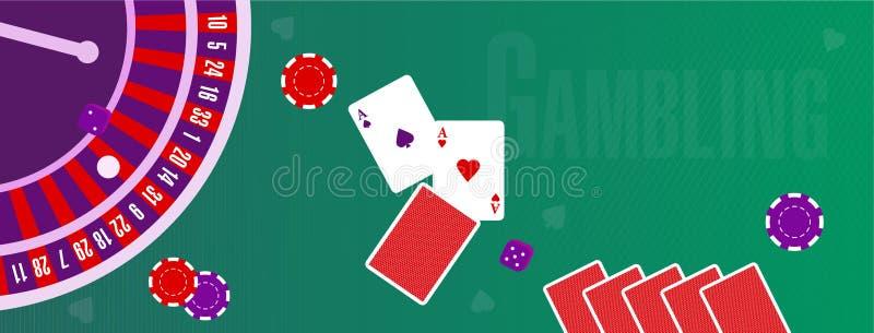 Wektorowa ilustracja lub pokrywa dla miejsca o uprawiać hazard ilustracji