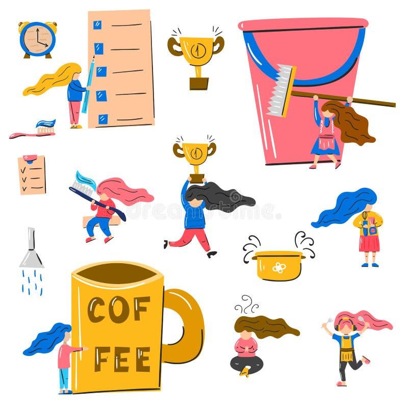 Wektorowa ilustracja, mamy produktywności temat ilustracja wektor