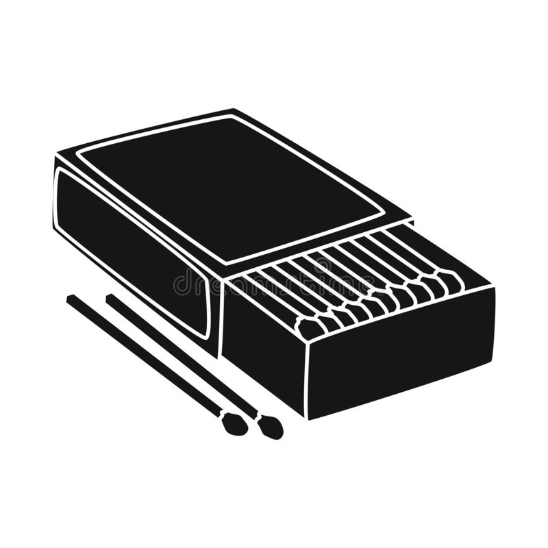 Wektorowa ilustracja matchbox i pudełka logo Kolekcja matchbox i matchstick akcyjna wektorowa ilustracja ilustracja wektor