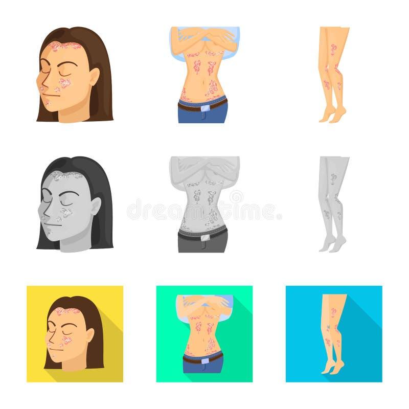 Wektorowa ilustracja medyczny i b?lowy logo Kolekcja medyczna i choroba akcyjna wektorowa ilustracja ilustracji