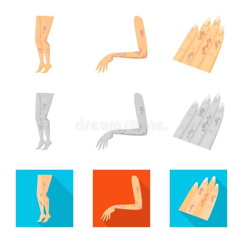 Wektorowa ilustracja medyczny i b?lowy logo Kolekcja medyczna i choroba wektorowa ikona dla zapasu ilustracji