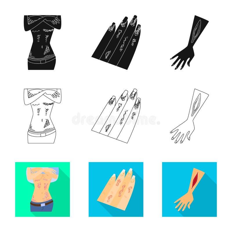 Wektorowa ilustracja medyczny i b?lowy symbol Kolekcja medyczny i choroba akcyjny symbol dla sieci royalty ilustracja
