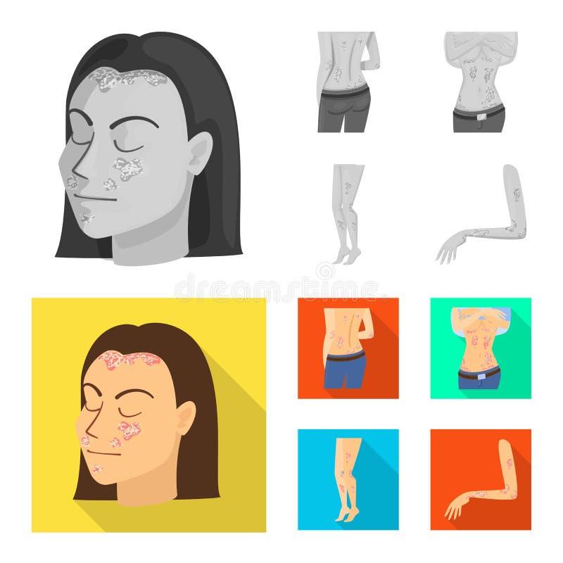 Wektorowa ilustracja medyczny i b?lowy symbol Set medyczna i choroba wektorowa ikona dla zapasu ilustracji