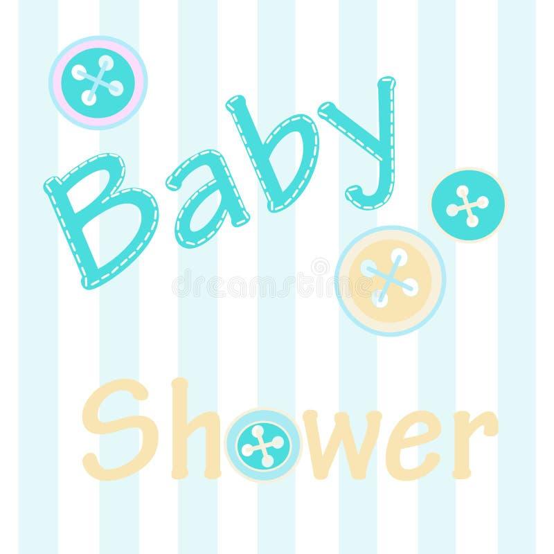 Wektorowa ilustracja miękka część barwi kartka z pozdrowieniami zaproszenie dla dziecko prysznic ilustracja wektor