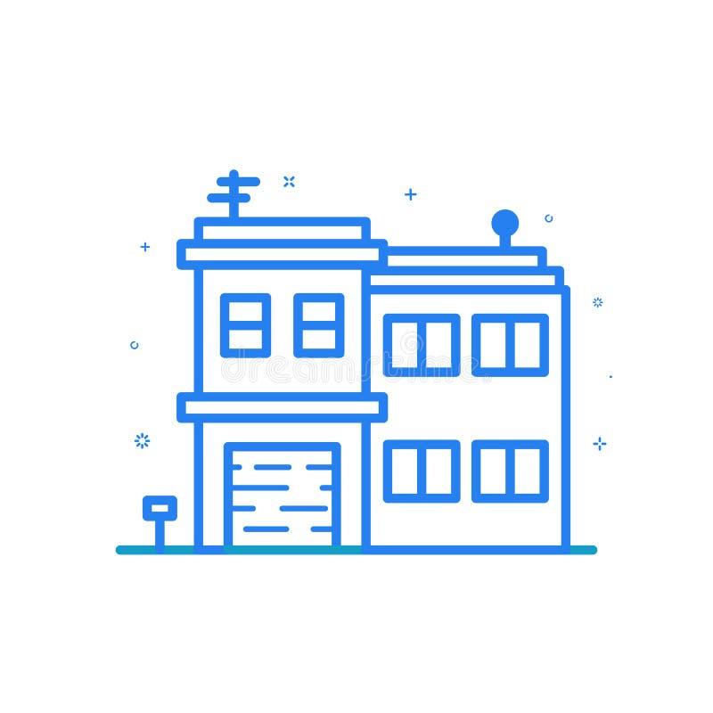 Wektorowa ilustracja mieszkanie linii ikona Graficznego projekta pojęcie kreatywnie umysł royalty ilustracja