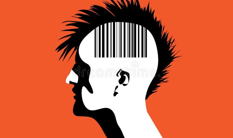 Mężczyzna z barcode ilustracji