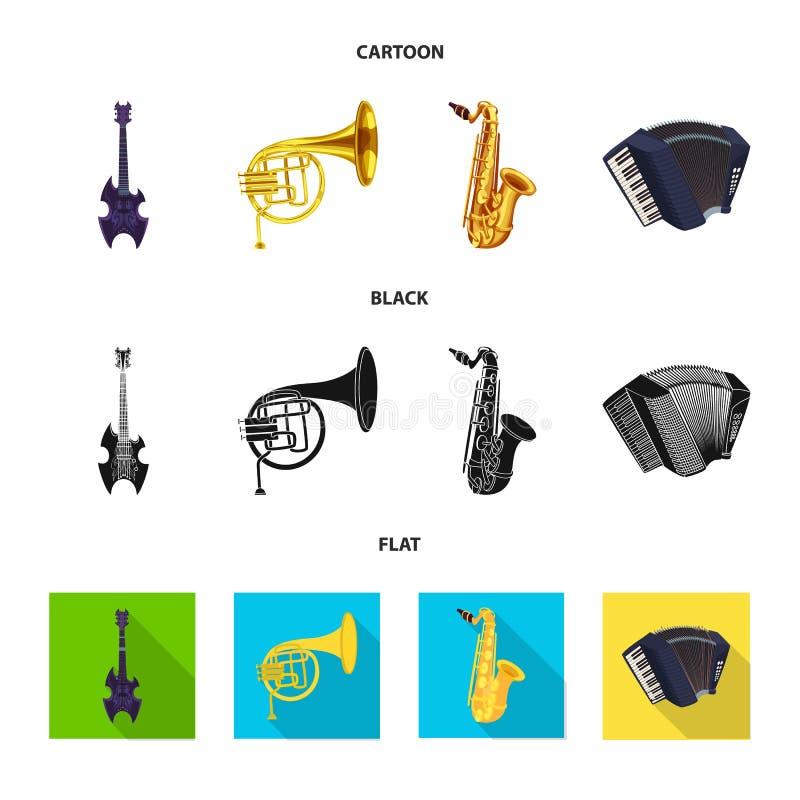 Wektorowa ilustracja muzyki i melodii ikona Set muzyka i narzędzie akcyjna wektorowa ilustracja ilustracji