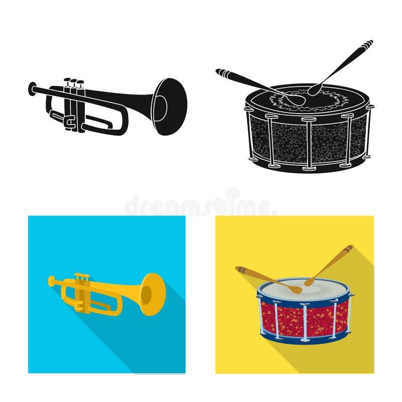 Wektorowa ilustracja muzyki i melodii znak Kolekcja muzyka i narzędziowy akcyjny symbol dla sieci ilustracji