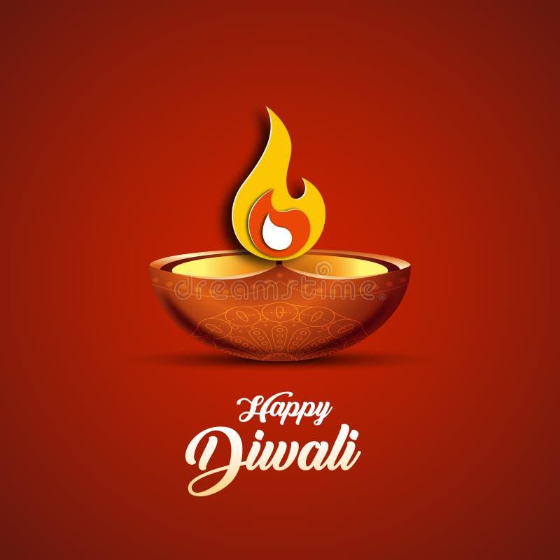 Wektorowa ilustracja na temacie tradycyjny świętowanie Diwali ilustracja wektor