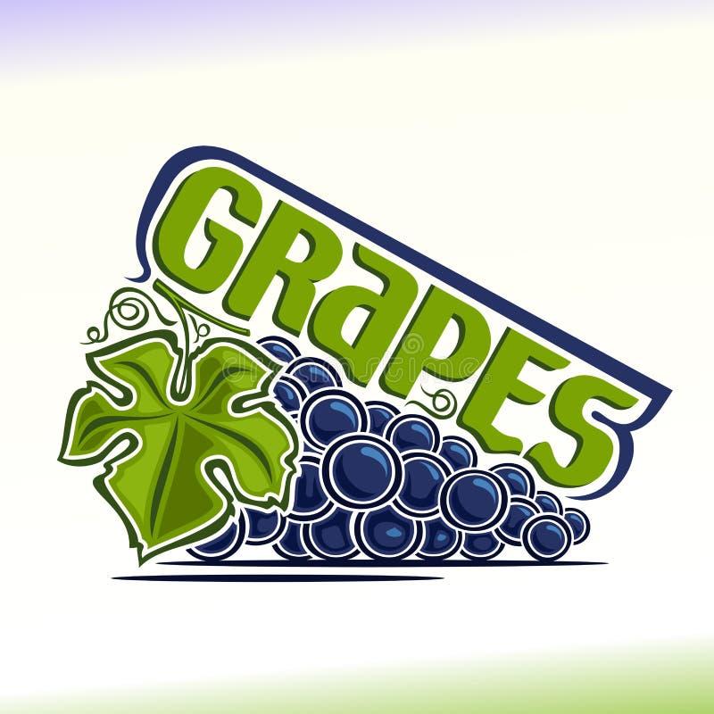 Wektorowa ilustracja na temacie winogrona ilustracja wektor