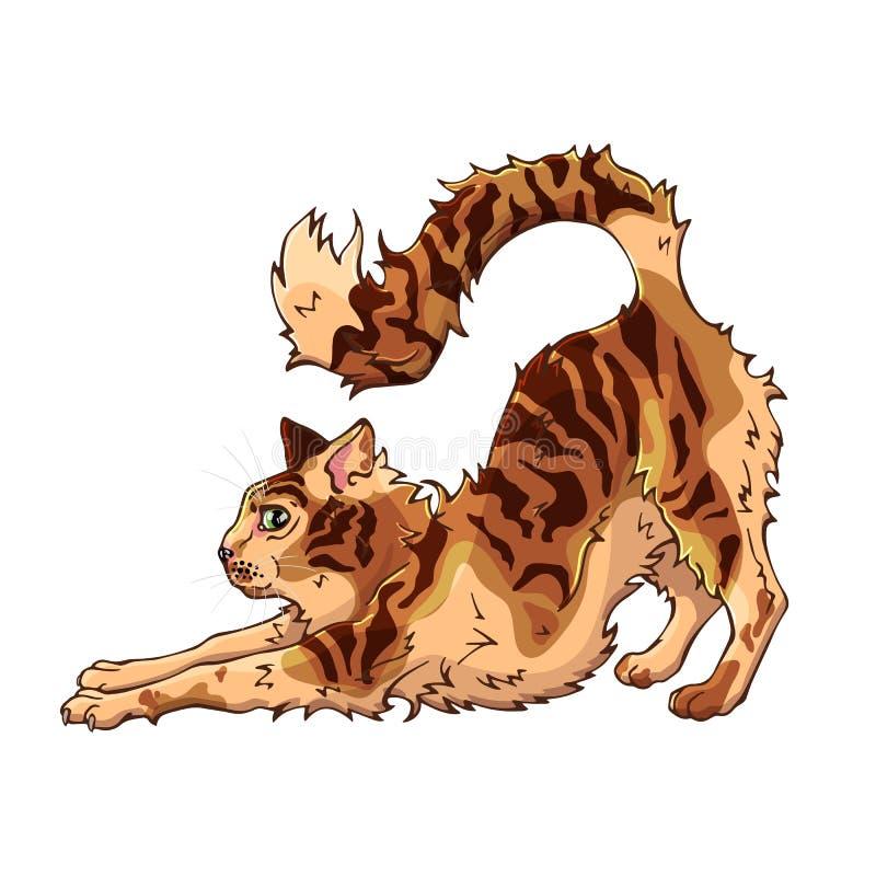 Wektorowa ilustracja na zwierzę domowe temacie: puszysty kot tła postać z kreskówki zuchwałych ślicznych psów szczęśliwa głowa od ilustracja wektor