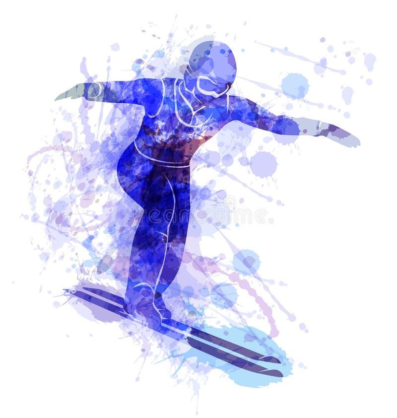 Wektorowa ilustracja narciarska bluza ilustracji