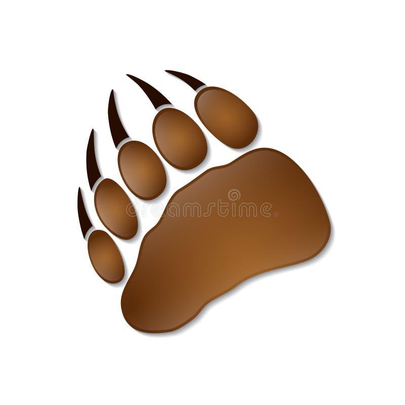 Niedźwiadkowy odcisk stopy ilustracja wektor