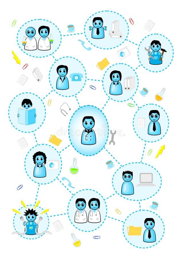 Organizacja w małym przedsiębiorstwie ilustracji
