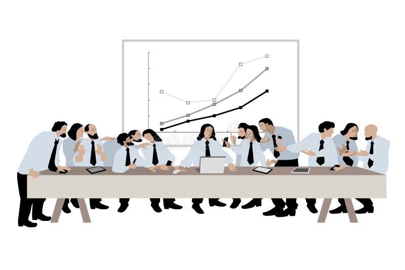 Wektorowa ilustracja ostatnia kolacja w biznesowym kontekscie ilustracja wektor