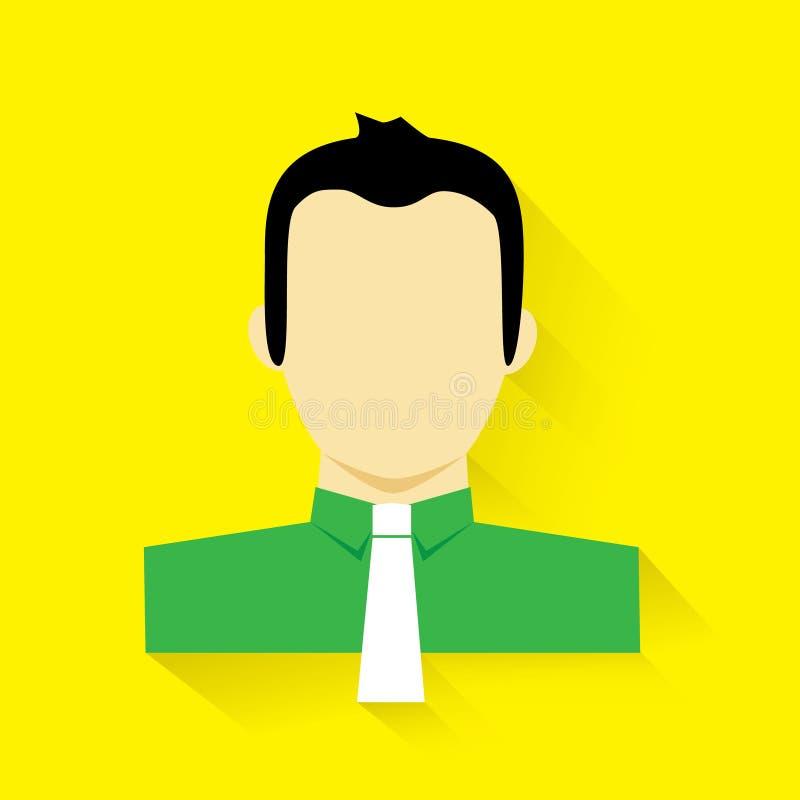 Download Wektorowa Ilustracja Płaska Projekta Biznesowego Mężczyzna Portreta Minimalistic Ikona Z Cieniem Ilustracja Wektor - Ilustracja złożonej z piękny, moda: 53778070