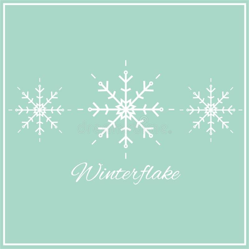 Wektorowa ilustracja płatki śniegu ilustracji
