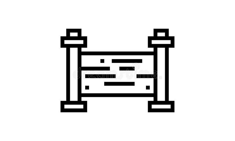 Wektorowa ilustracja płotowy symbol r?wnie? zwr?ci? corel ilustracji wektora royalty ilustracja