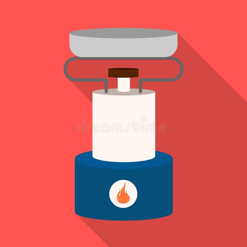 Wektorowa ilustracja palnik i przetrwanie symbol Kolekcja palnika i gazu wektorowa ikona dla zapasu royalty ilustracja