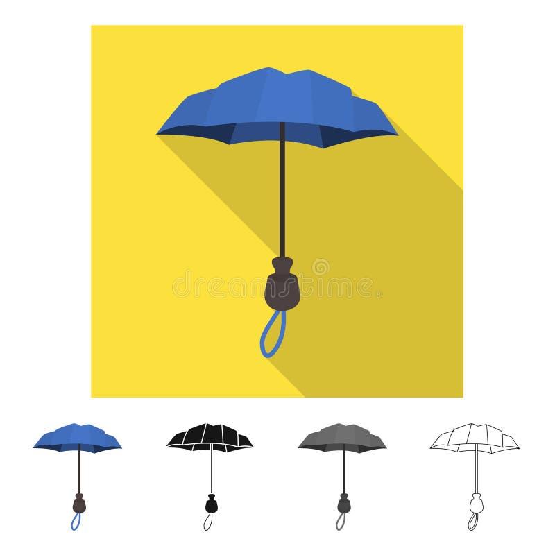 Wektorowa ilustracja parasol i sprawozdanie logo Kolekcja parasol i klasyczny akcyjny symbol dla sieci royalty ilustracja