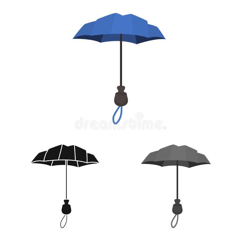 Wektorowa ilustracja parasol i sprawozdanie logo Kolekcja parasol i klasyka wektorowa ikona dla zapasu ilustracji