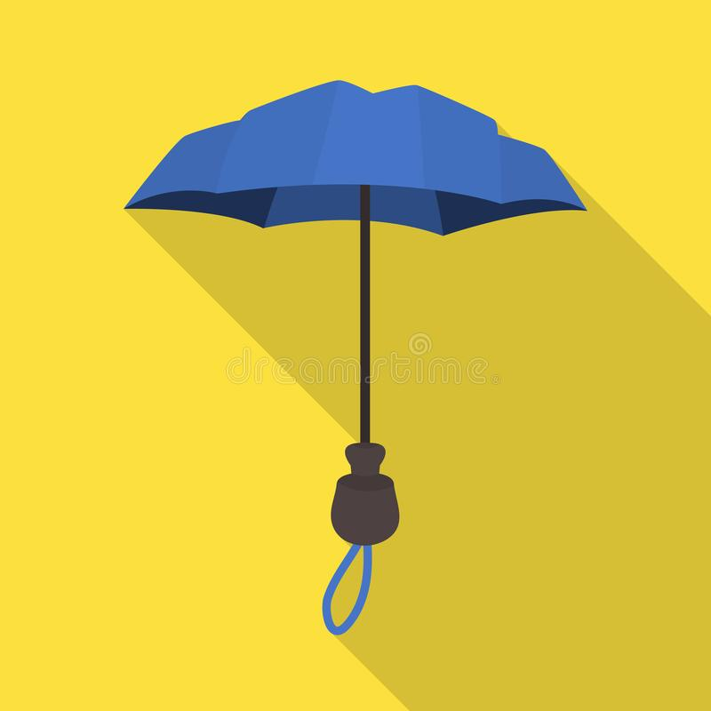 Wektorowa ilustracja parasol i sprawozdanie logo Set parasol i klasyka wektorowa ikona dla zapasu royalty ilustracja