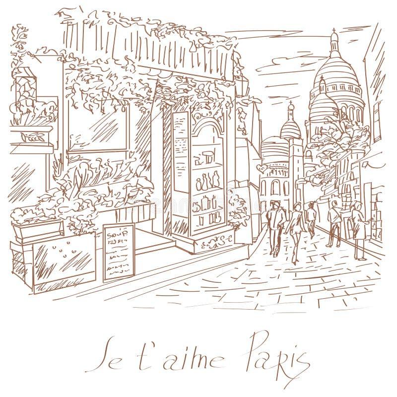 Wektorowa ilustracja Paryż ilustracji