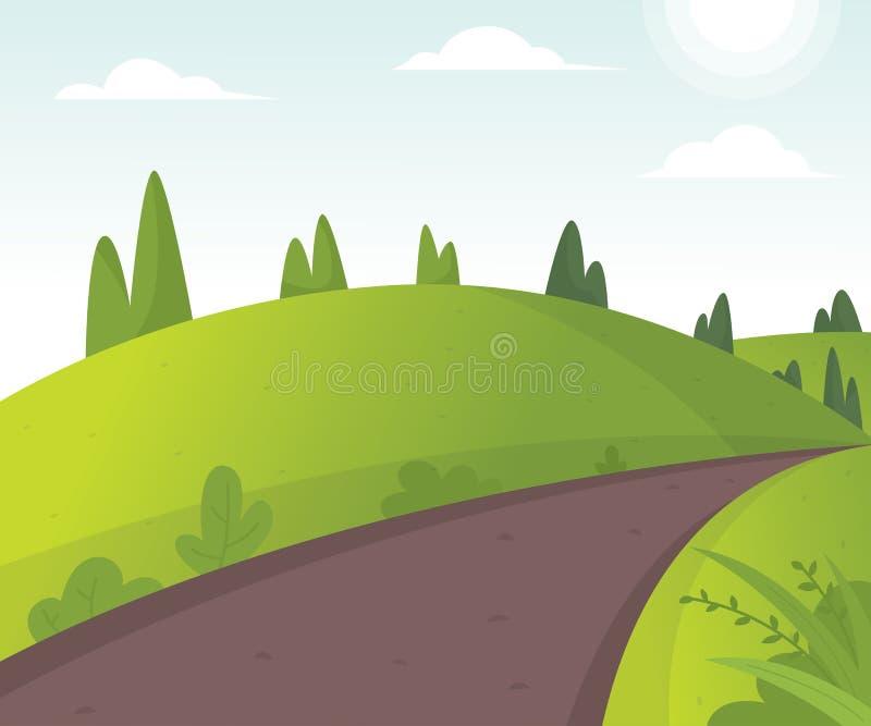 Wektorowa ilustracja piękny pole krajobraz royalty ilustracja