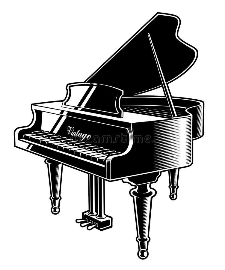 Wektorowa ilustracja pianino na białym tle ilustracja wektor