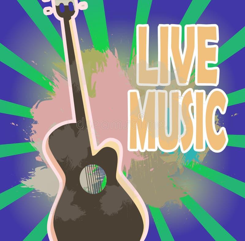 Wektorowa ilustracja plakat festiwal muzyka, koncerty, wakacje ilustracja wektor