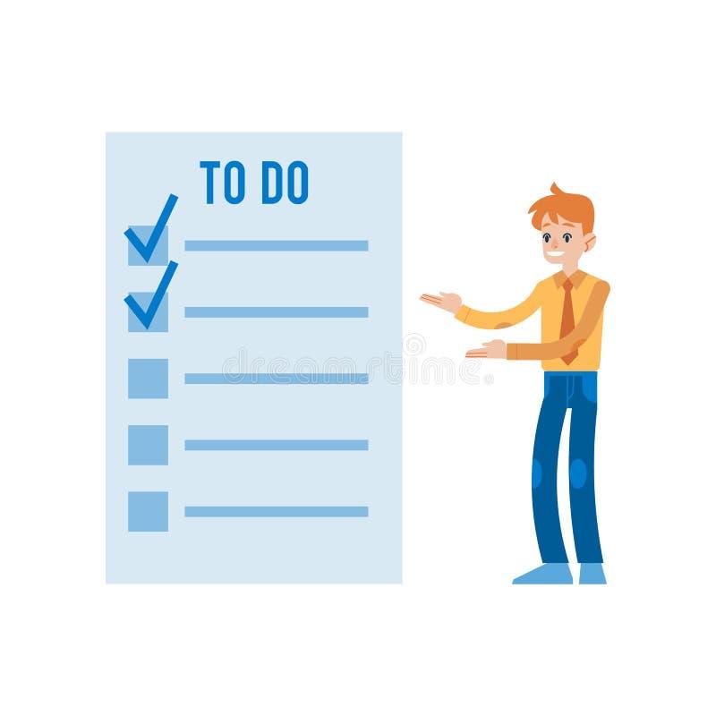Wektorowa ilustracja planowania i czasu zarządzania pojęcie w mieszkaniu projektuje ilustracji