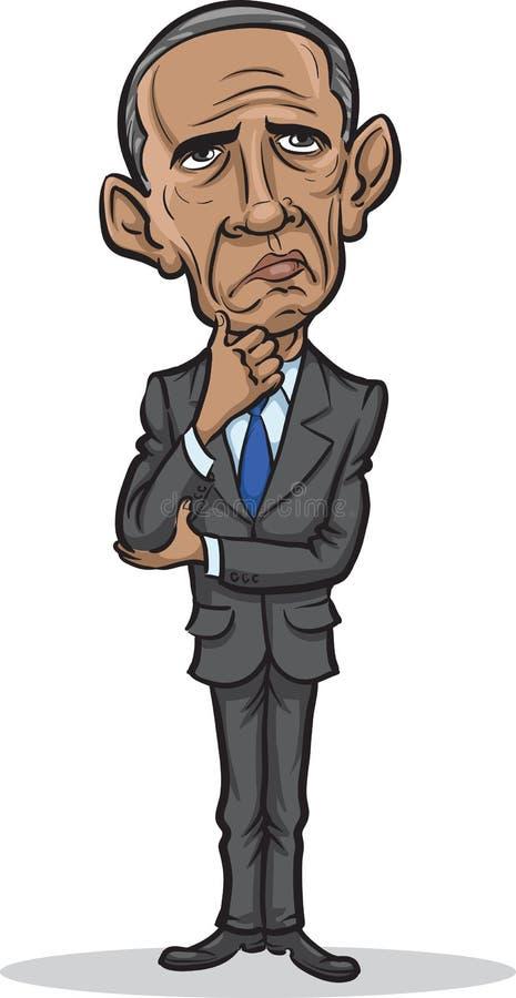 Wektorowa ilustracja prezydent Barack Obama ilustracji